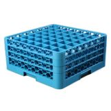 Carlisle OptiClean 49 Compartment Blue Glass Rack With 3 Extenders