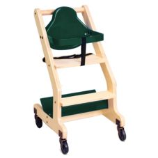 Koala Kare KB318-06 Green Seat Natural Wood Bistro High Chair