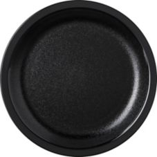 "Carlisle® PCD20503 5-1/2"" Narrow Rim Black Plate - 48 / CS"
