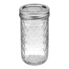 Ball® 81400 12 Oz. Quilted Crystal Jelly Jar - 12 / CS