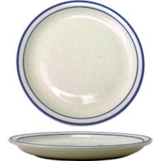 "International Tableware DA-8 Danube Blue Speckle 9"" Plate - 24 / CS"