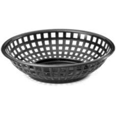 """TableCraft 1075BR 8"""" Brown Round Chicago Platter Basket - Dozen"""