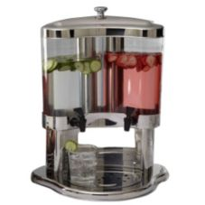 American Metalcraft JUICE12 S/S 5.3 Qt. Dual Beverage Dispenser