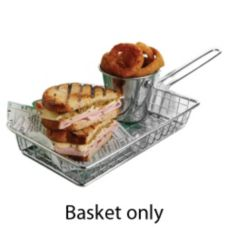 American Metalcraft MRECBSKT S/S Rectangular Grid Mini Fry Basket