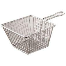 "American Metalcraft MSQBSKT S/S 5"" Square Mini Fry Basket"
