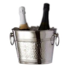 American Metalcraft O2BWB Oval 2-Bottle Hammered S/S Wine Bucket