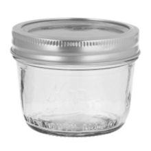 Kerr® 00500 Wide Mouth 8 Oz. Glass Mason Jars - 12 / CS