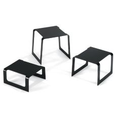 Vollrath® 4600960 Black Square Bent Buffet Risers - 3 / ST