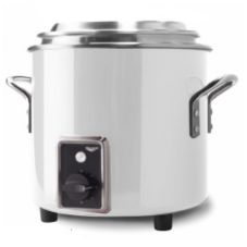 Vollrath 7217250 11 Qt. White Finish Stock Pot Kettle Rethermalizer