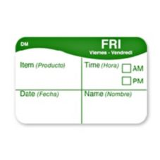 DayMark® DissolveMark™ Cross Hair Friday Day Label
