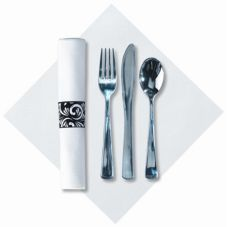Hoffmaster Metallic Cutlery CaterWrap with Linen Like Napkin