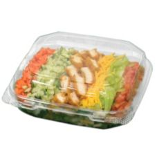 Pactiv 16203045 Hinged Clear Plastic Container - 250 / CS