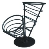 American Metalcraft FCB22 Ironworks™ Wrought Iron 2-Cone Basket