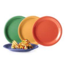 "G.E.T. NP-7-MIX Mardi Gras Assorted Colors 7.25"" Plates - 48 / CS"