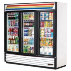 True® GDM-72-LD Three Section Refrigerator Merchandiser