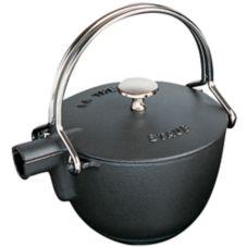 Staub USA 1650023 Black La Theire 1 Qt. Round Teapot