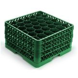 Vollrath TR12HHHH-19 Green 30-Compartment Glass Rack With 4 Extenders