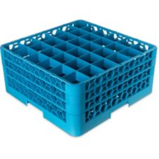 Carlisle RG36-3 OptiClean 36 Compartment Glass Rack with 3 Extenders