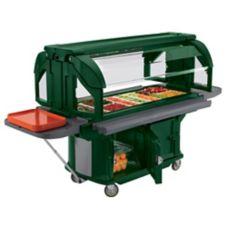 Cambro® VBRU5519 Kentucky Green Versa Food Bar with Storage