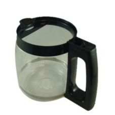 Hamilton Beach 990146300 Replacement Black Glass Carafe with No Lid