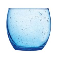 Cardinal Arcoroc Bola 11-1/2 Oz. Blue Old Fashioned Glass
