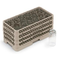 Vollrath® HR1D1DDD Beige 17-Compartment Half Rack
