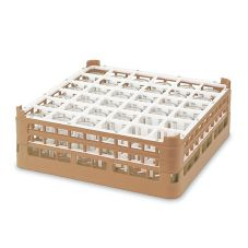 Vollrath® 5268920 Beige 36-Compartment Glass Rack