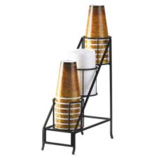 Cal-Mil 1452 3-Tier Black Iron Cup And Lid Display