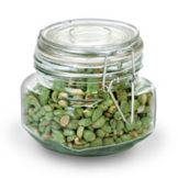 Anchor Hocking 98590R1 Heremes 17 oz Glass Jar with Clamp Top Lid
