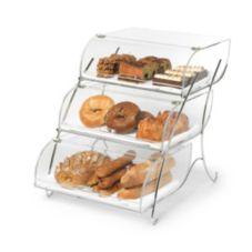 Rosseto® BAK2944 3-Bin Acrylic Bakery Case with Wire Stand
