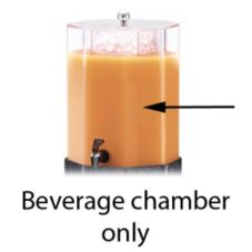 Cal-Mil C972-3BEV Beverage Dispenser Replacement Beverage Chamber