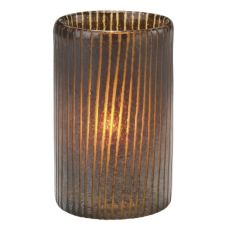 "Hollowick® 45017BR 4-5/8"" x 3"" Mocha™ Cylinder Glass Lamp"