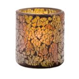 Hollowick® 6351G Gold Frosted Crackle™ Glass Votive Lamp