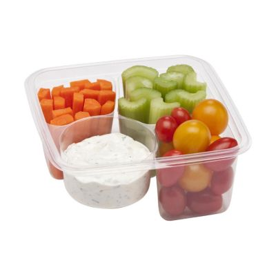 Fabri-Kal 9509504 3-Compartment Compostable Container - 300 / CS