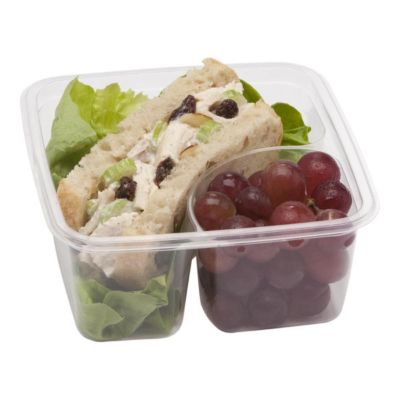 Fabri-Kal 9509502 2-Compartment Compostable Container - 300 / CS