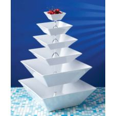 G.E.T. ML-250-W Siciliano® 20.4 Qt. White Square Bowl