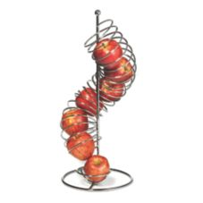 "TableCraft FSP1507 Chrome 18-1/2 x 4-1/4"" Spiral Fruit Basket"