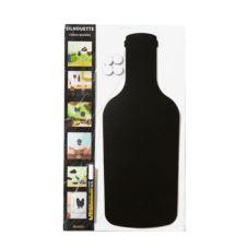 American Metalcraft FBBOTTLE 20 x 8 Inch Bottle Silhouette Chalk Board