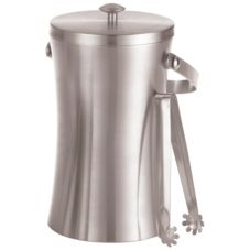 American Metalcraft ISSB8 S/S 49 Oz. Double Wall Ice Bucket with Tongs