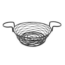 American Metalcraft BNBB83 Round Birds Nest Basket with Ramekin Holder