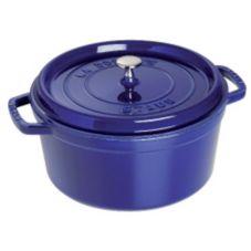 Staub USA 1103091 Dark Blue Cast Iron 9 Qt. Round Cocotte