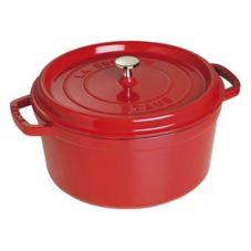 Staub USA 1103006 Cherry Cast Iron 9 Qt. Round Cocotte