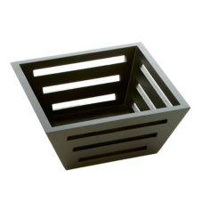 "American Metalcraft TWBB73 Birch Tapered 7"" Square Bread Basket"