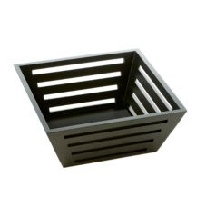 "American Metalcraft TWBB94 Birch Tapered 9.5"" Square Bread Basket"