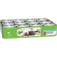 Ball® 1440080400 Quilted Crystal 4 Oz. Mason Jars - 12 / CS