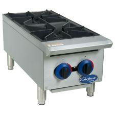 Globe Food C12HT Chefmate™ 2 Burner Gas Hot Plate w/ Catch Tray