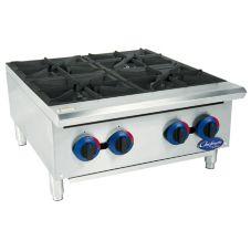Globe Food C24HT Chefmate™ 4 Burner Gas Hot Plate w/ Catch Tray