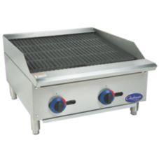 "Globe Food C24CB-SR Chefmate™ 24"" Radiant Gas Charbroiler"