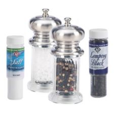 "William Bounds 10120 Acrylic 4-1/4"" Salt And Pepper Grinder Set"
