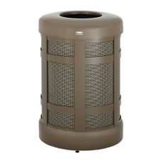 Rubbermaid® FGA38TABZPL Bronze Hinged Top 38 Gal. Trash Can